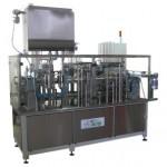 Фасовочно-упаковочный автомат линейного типа «АЛЬТЕР-02», с объемом дозирования до 1000 мл и производительностью от 5000 доз/час